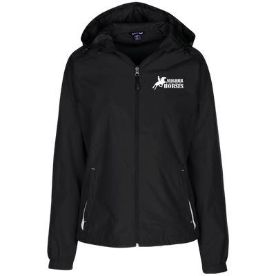 Feed My Horses Ladies' Hooded Windbreaker