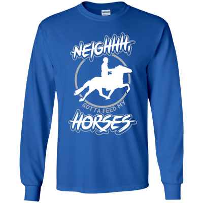"""Feed my Horses"" LS Ultra Cotton T-Shirt"