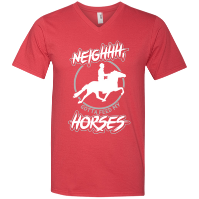 """Feed my Horses"" Men's V-Neck T-Shirt"