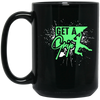"""Get a Grip"" 15 oz. Black Mug"