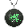"""Get a Grip"" Circle Necklace"