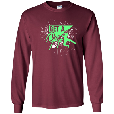 """Get a Grip"" LS Ultra Cotton T-Shirt"