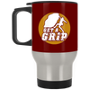 """Get a Grip"" Silver Stainless Travel Mug"