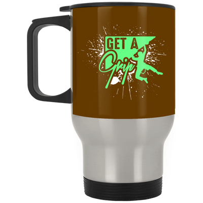 """Get a Grip"" Stainless Travel Mug"