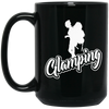 """Glamping"" 15 oz. Black Mug"