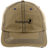 """Glamping"" Distressed Unstructured Trucker Cap"