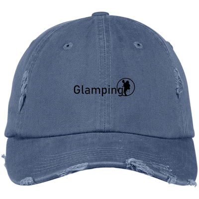 """Glamping"" District Distressed Dad Cap"