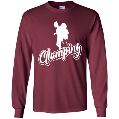 """Glamping"" LS Ultra Cotton T-Shirt"