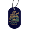 """Go Outside"" Silver Dog Tag"