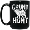 """Grunt Hunt"" 15 oz. Black Mug"