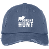 """Grunt Hunt"" Distressed Dad Cap"