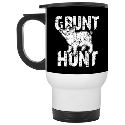 """Grunt Hunt"" White Travel Mug"