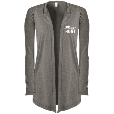 """Grunt Hunt"" Women's Hooded Cardigan"