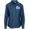 """Grunt Hunt"" Women's LS Denim Shirt"