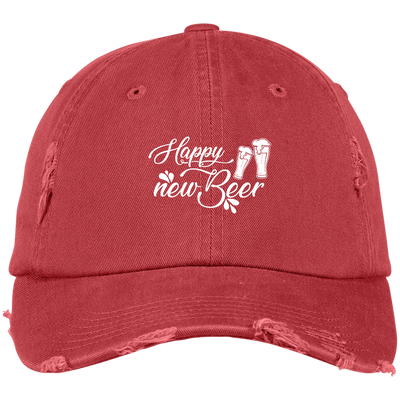 """Happy New Beer"" District Distressed Dad Cap"