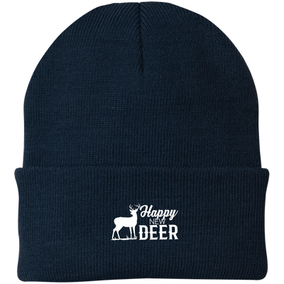 """Happy New Deer"" Port Authority Knit Cap"