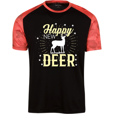 """Happy New Year"" CamoHex T-Shirt"