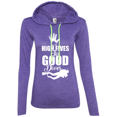 """High Fives"" Ladies' LS T-Shirt Hoodie"