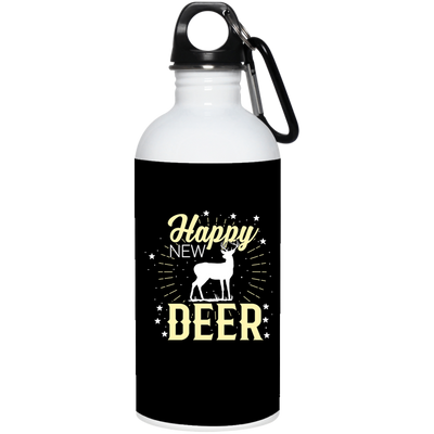"""Hppy New Deer"" Stainless Steel Water Bottle"