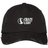 """Hunting Crazy Lady"" District Distressed Dad Cap"