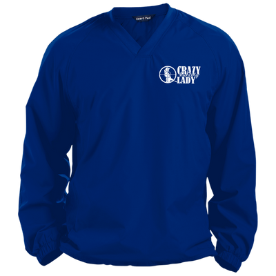 """Hunting Crazy Lady"" Pullover V-Neck Windshirt"