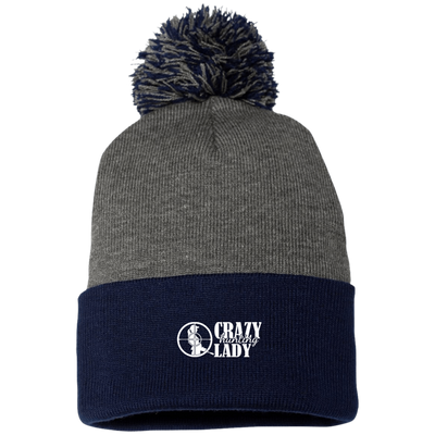 """Hunting Crazy Lady"" Sportsman Pom Pom Knit Cap"
