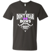 """I Don't Ware Bows"" Men's V-Neck T-Shirt"