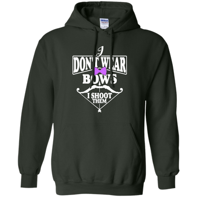 """I Don't Ware Bows"" Pullover Hoodie"
