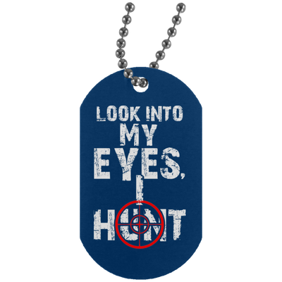 """I Hunt"" Silver Dog Tag"