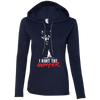 """I Hunt the Hunter"" Ladies' LS T-Shirt Hoodie"