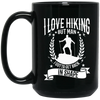"""I Love Hikings""15 oz. Black Mug"