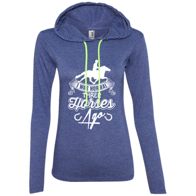 """I was Normal"" Ladies' T-Shirt Hoodie"