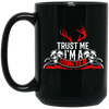 """I'm a Hunter"" 15 oz. Black Mug"