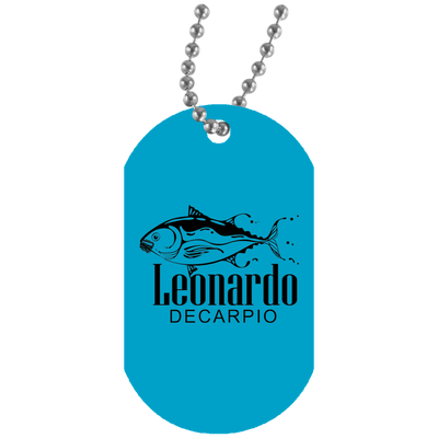 """Leornardo DeCarpio"" White Dog Tag"