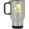 """Let's Hang"" Silver Stainless Travel Mug"