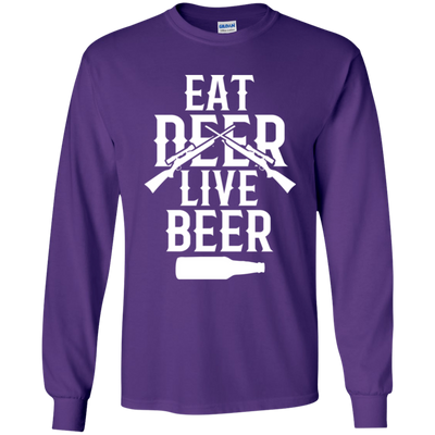 """Live Beer"" LS Ultra Cotton T-Shirt"