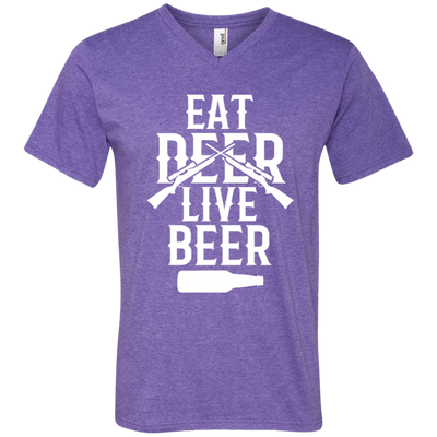 """Live Beer"" Men's V-Neck T-Shirt"