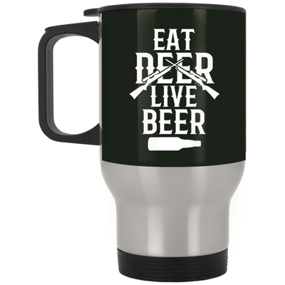 """Live Beer"" Stainless Travel Mug"