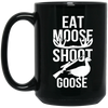 """Moose Goose"" 15 oz. Black Mug"