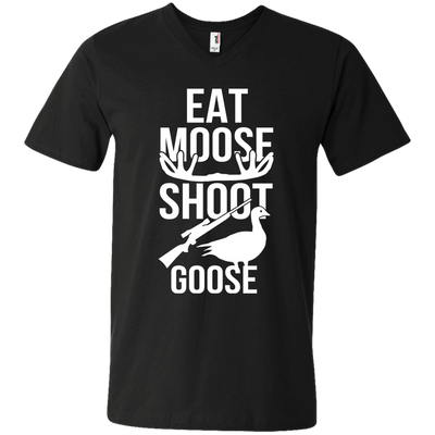"""Moose Goose"" Men's V-Neck T-Shirt"