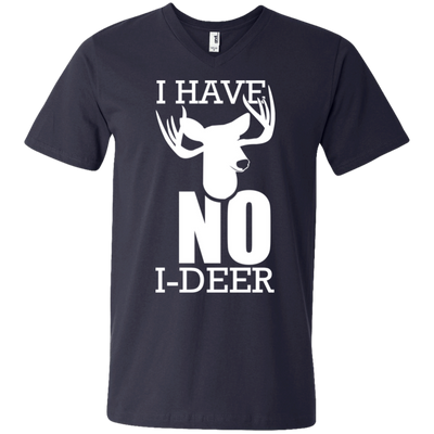 """No I-Deer"" Men's V-Neck T-Shirt"