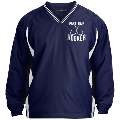 """Part Time Hooker"" V-Neck Windshirt"