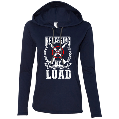 """Releasing my Load"" Ladies' LS T-Shirt Hoodie"