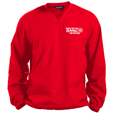 """Roses are Red"" Pullover V-Neck Windshirt"