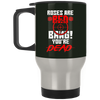 """Roses are Red"" Silver Stainless Travel Mug"