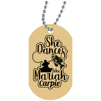 """She Dances Like"" White Dog Tag"
