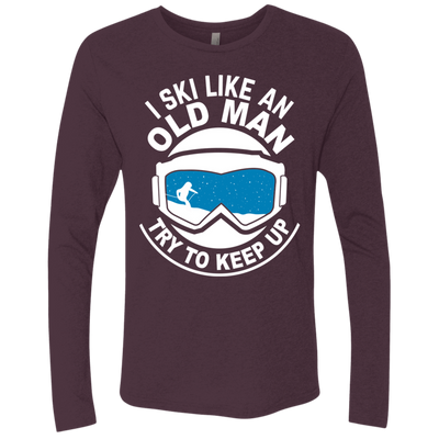 """Ski Old Man"" Men's Triblend Crew"