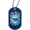 """Ski Old Man"" Silver Dog Tag"