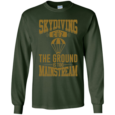 """Skydiving"" LS Ultra Cotton T-Shirt"