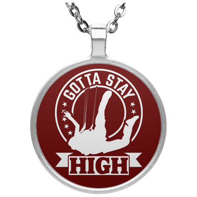 """Stay High"" Circle Necklace"